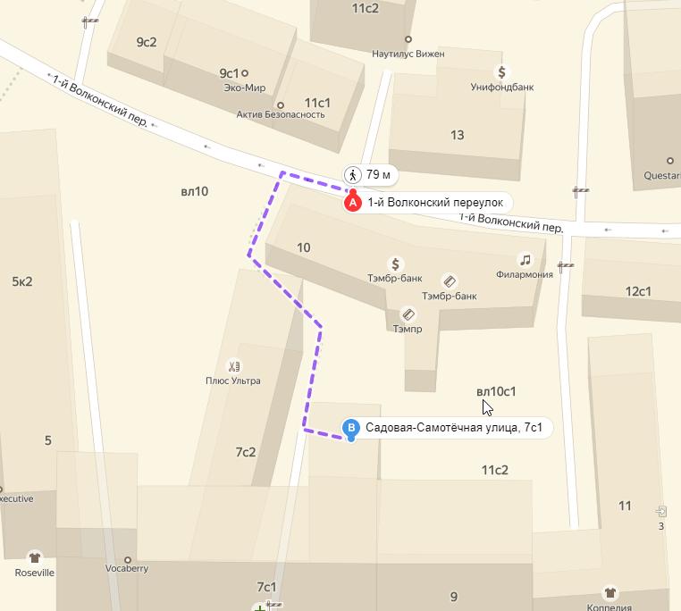 Схема ближайшей парковки у офиса БМЦ